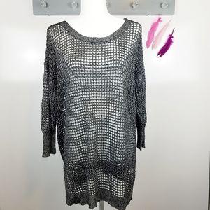 Size 18/20 | Lane Bryant Mesh Crew Neck Sweater